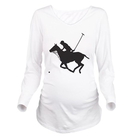 Polo Pony Silhouette Long Sleeve Maternity T-Shirt