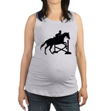 Horse Jumping Silhouette Maternity Tank Top