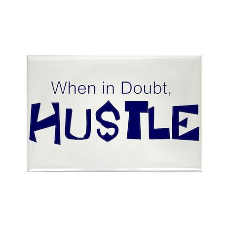 """Hustle"" Rectangle Magnet"