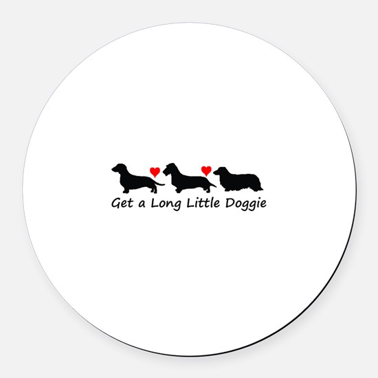 Get a Long Little Doggie.tif Round Car Magnet