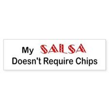 """Salsa Chips"" bumper sticker"