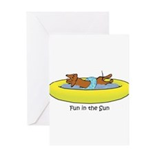 Dachshund - Fun in the Sun Greeting Card