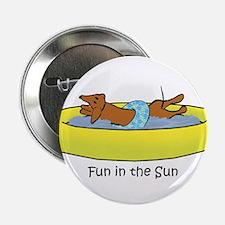 "Dachshund - Fun in the Sun 2.25"" Button (10 pack)"