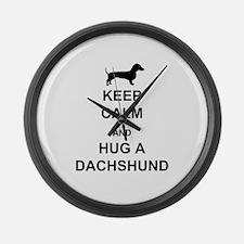 Dachshund - Keep Calm and Hug a Dachshund Large Wa