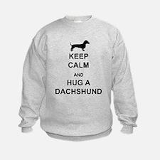 Dachshund - Keep Calm and Hug a Dachshund Sweatshirt