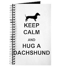 Dachshund - Keep Calm and Hug a Dachshund Journal