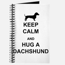 Dachshund - Keep Calm and Hug a Dachshund Journal