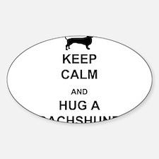 Dachshund - Keep Calm and Hug a Dachshund Decal