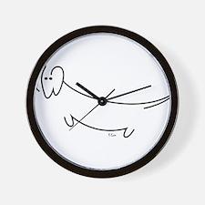 Modern Dachshund Wall Clock