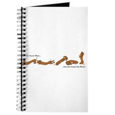Dachshund - How do I love Thee Journal