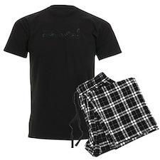 Dachshund - Black and Tan How do I Love Thee Pajamas