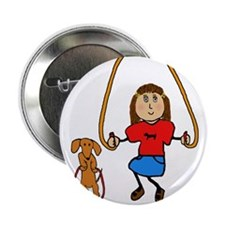 "Dachshund - Play with your wiener - girl 2.25"" But"