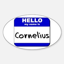 hello my name is cornelius Oval Decal