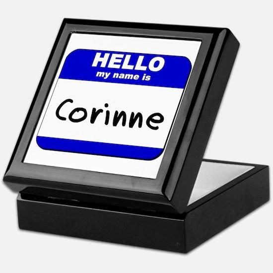 hello my name is corinne Keepsake Box
