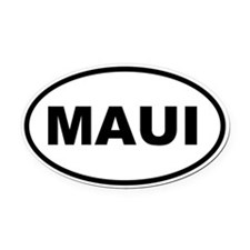 MAUI Oval Car Magnet