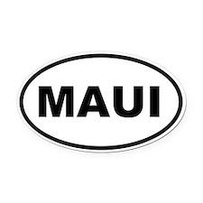 MAUI Oval Car Magnet