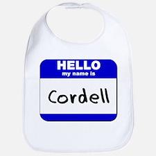 hello my name is cordell  Bib