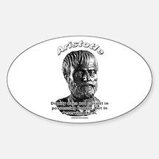Aristotle 01 Oval Decal