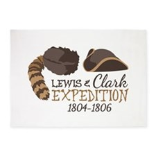 Lewis and Clark Expedition 5'x7'Area Rug
