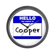 hello my name is cooper  Wall Clock