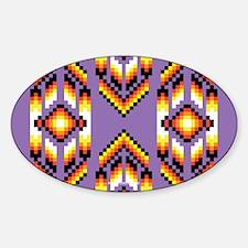 Native American Design Purple Decal
