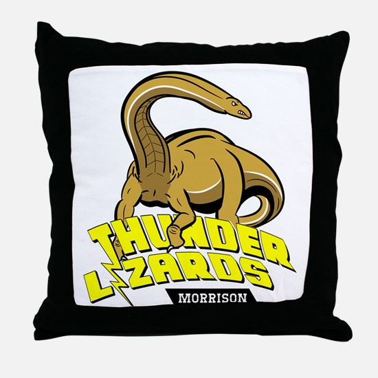 Thunder Lizards Throw Pillow