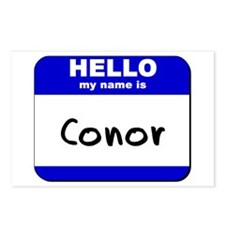 hello my name is conor  Postcards (Package of 8)