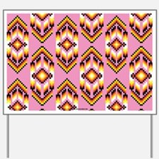 Native American Design Pink Yard Sign