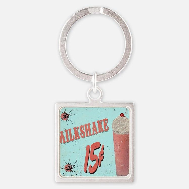 5OS Milkshake Square Keychain