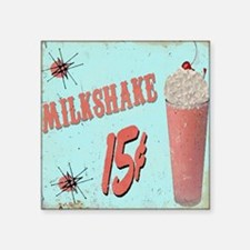 "5OS Milkshake Square Sticker 3"" x 3"""
