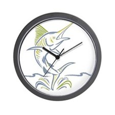 marlin ile maurice Wall Clock