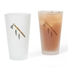 Native American Tomahawk Drinking Glass