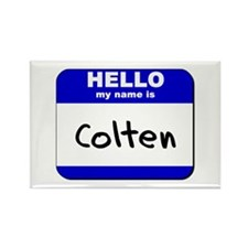 hello my name is colten Rectangle Magnet