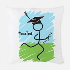 Customize Graduate Runner © Woven Throw Pillow
