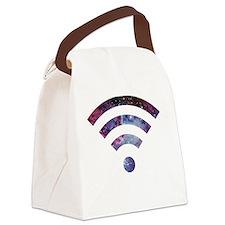 WiFi Nebula Canvas Lunch Bag