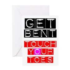 GET BENT - TOUCH YOUR TOES Greeting Card