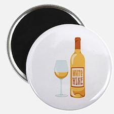 White Wine Bottle Glass Magnets