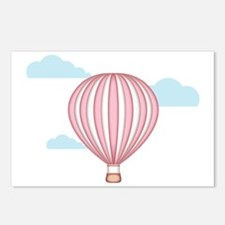 Pink Hot Air Balloon Postcards (Package of 8)