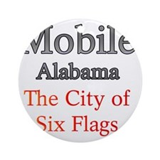 Mobile, Alabama - The City of Six F Round Ornament