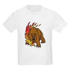 Flaming Bear Tattoo T-Shirt