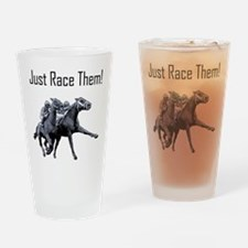 horse just race Drinking Glass