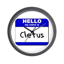 hello my name is cletus  Wall Clock