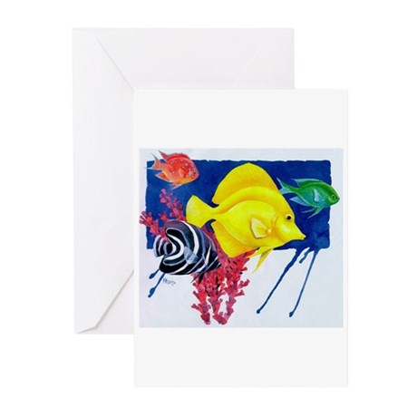 Fish in water Greeting Cards (Pk of 10)