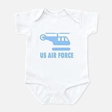 AF Blue Helicopter Infant Bodysuit