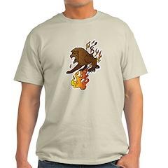 Flaming Lion Tattoo T-Shirt