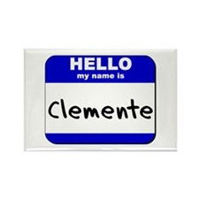 hello my name is clemente Rectangle Magnet