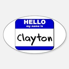 hello my name is clayton Oval Decal