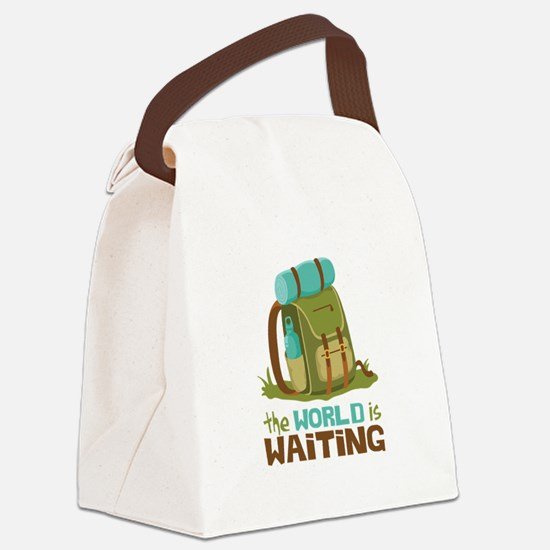 The World is Waiting Canvas Lunch Bag