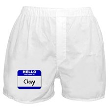 hello my name is clay  Boxer Shorts