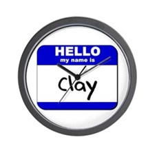 hello my name is clay  Wall Clock